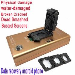 EMMC153 169 socket dispositivo de recuperación de datos para teléfono android NAND flash chips Rescue contactos, mensajes, fotos y archivos recientes