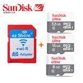 Оригинал ezshare Беспроводной wi-fi SD card адаптер + Sandisk Ультра class10 карта micro sd 32 ГБ 16 ГБ 8 ГБ wifi беспроводной MicroSD TF Карта