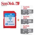 Original ezshare Wireless wifi SD card adapter+Sandisk Ultra class10 micro sd card 32GB 16GB 8GB wifi wireless MicroSD TF Card