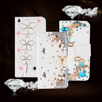 Shiny Rhinestone Flip Cover Leather Case For IPhone 4 4S 5S 5 6S 6 Plus Book