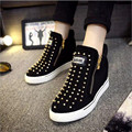 Creepers New Fashion Women Casual Rivet Skate Platform Shoes Flats High Top Basket Femme Tenis Feminino Trainers Espadrilles