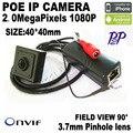"""1080 P Mini cámara ip 2.0 Megapíxeles 1920x1080 P Cámara del Ip del POE Mini Cámara Poe HQCAM Poe IP cámara 1/2. 7 """"Sensor cmos"""