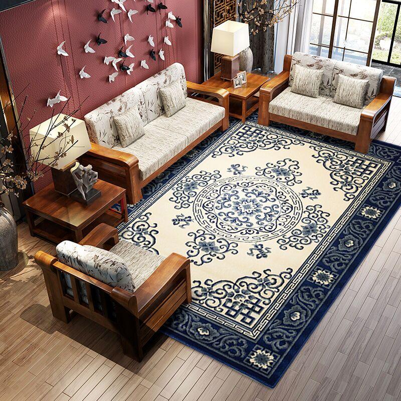 Modèle chinois traditionnel grande taille épaissir tapis, tapis de bureau, tapis de table basse, tapis de décoration de maison classique