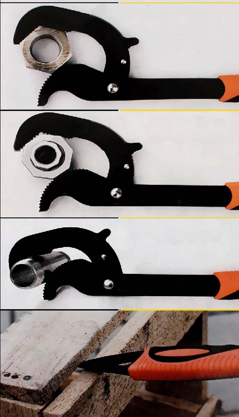 2PCS nešiojamas reguliuojamas greitas užraktas NGrip veržliaraktis - Rankiniai įrankiai - Nuotrauka 4