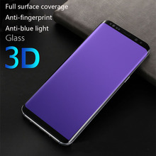 LISM For Samsung S8 Plus S9 Plus  s10 Plus Lite Note 8 9 Anti UV Purple Blue Light Fingerprint Tempered Glass Screen Protector