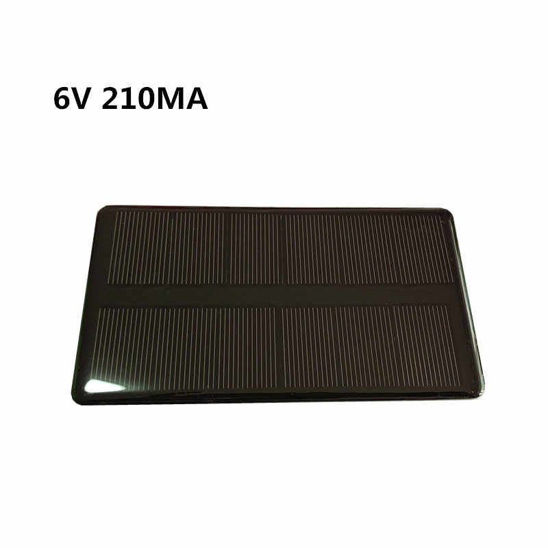 Mini 6V 210MA 1.25W Monocrystalline Silicon Solar Panel /Solar Epoxy Panel  Solar Panel Photovoltaic Cell Phone Charging