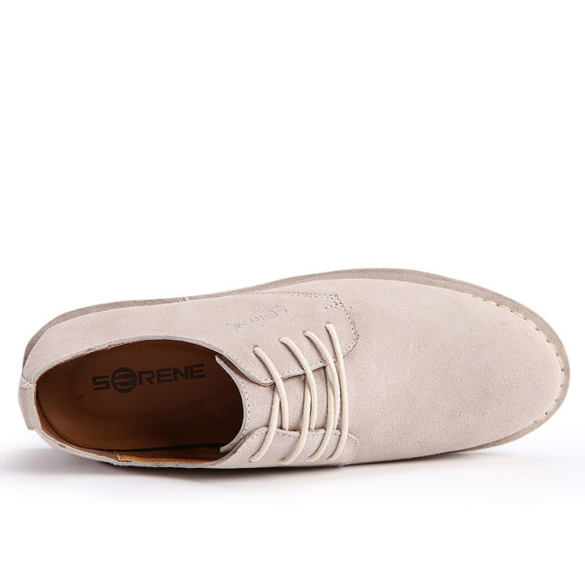 Suede Leather Increased High Men Lace-up Casual Loafers Business Desert Shoe 5 Colors