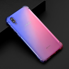 Four Corners Schockproof Case for Vivo Y97 Y83 Y85 Y71 Cover Rainbow Gradient Airbag Phone Case for Vivo V9 XZ1 Soft TPU Cover все цены