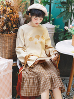 Princess sweet lolita sweater Original Autumn and winter Loose Pullover long sleeve Japanese sweater knitting woman BYJ186