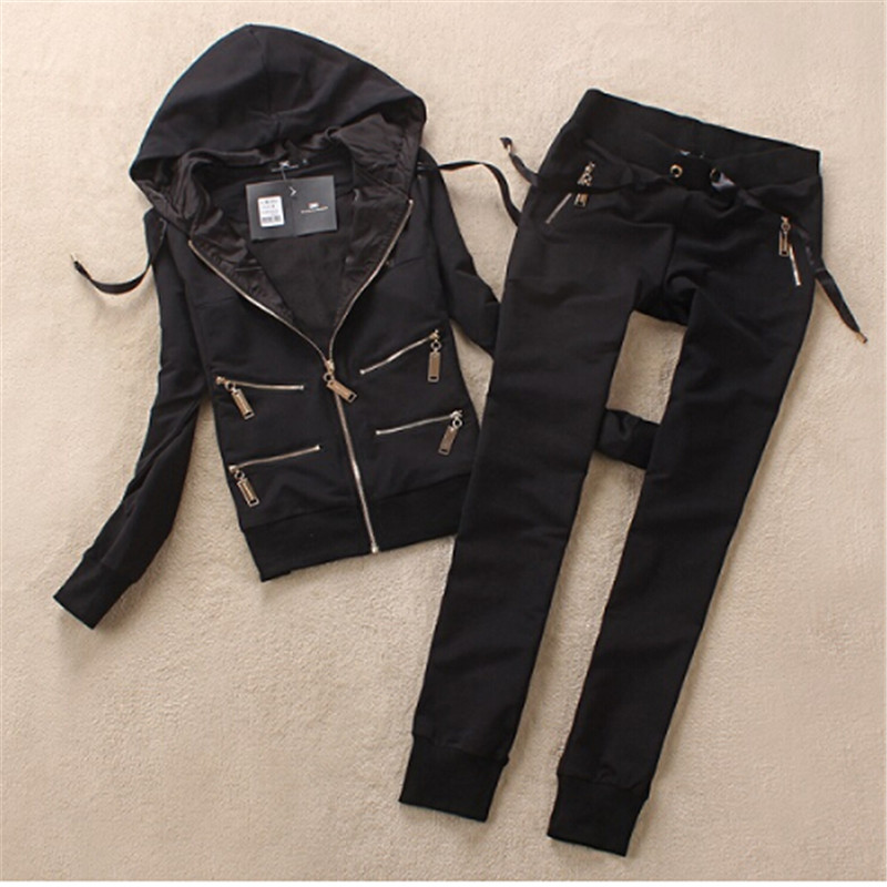 Hot sale Fashion and Casual Women Tracksuit Hoodie Sweatshirt Coat+Pants Casual high quality