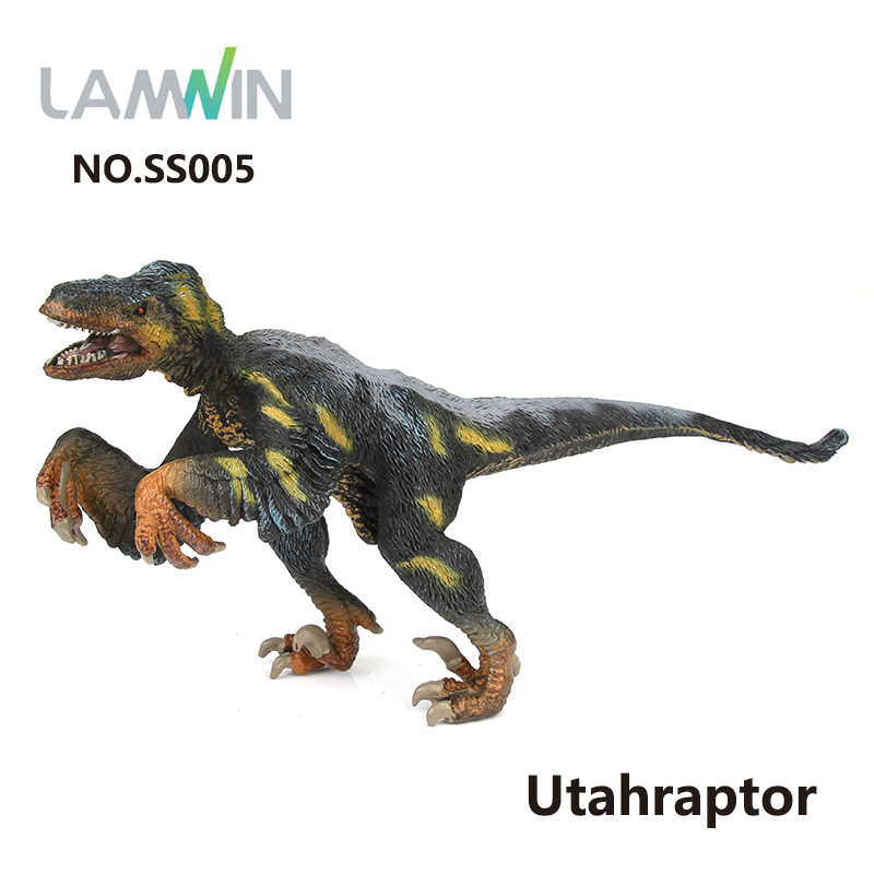 Lamwin Unique Design Plastic Dinosaur PVC Action Figure Ornithomimus Model Jurassic Collection Toy lamwin 6pcs lot large dinosaur toy collection set jurassic world park hollow model figure free gift dinossauro egg