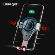 ФОТО essager car phone holder for iphone x 8 samsung s9 s8 fast charging 10w qi wireless charger gravity car mount holder for phone