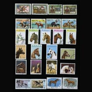 Image 5 - Caballo, 250 unids/lote todo el mundo sin utilizar con la marca postal sellos postales para recoger Timbres postaux