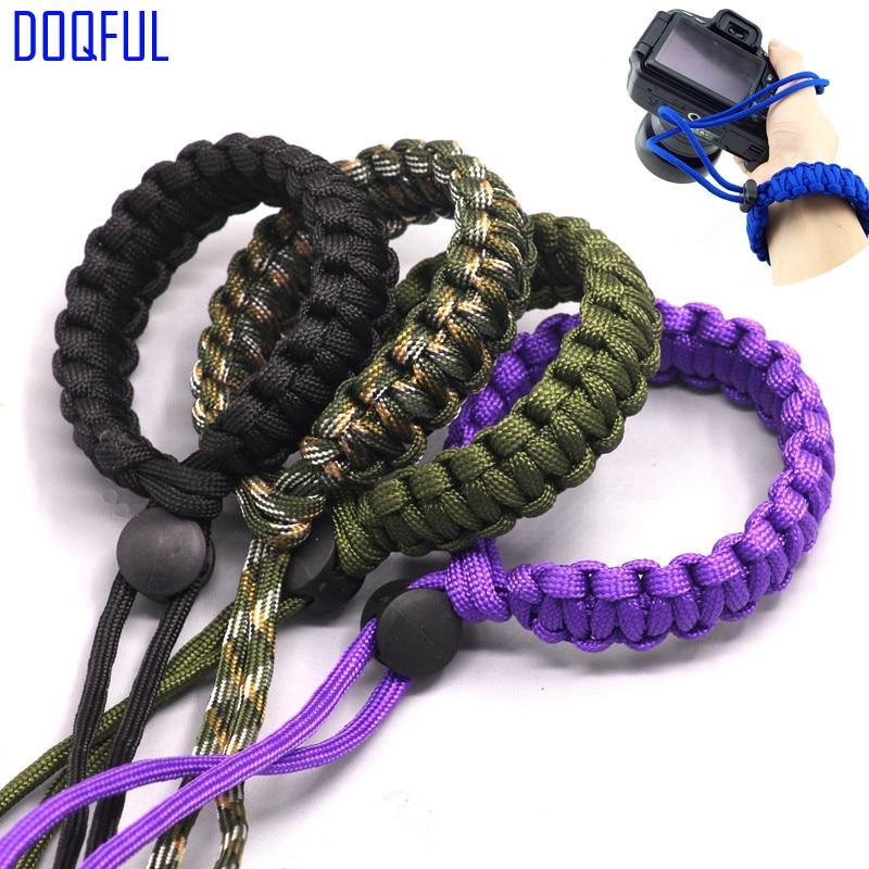 100pcs/lot Camera Pendant Umbrella Rope Bracelet Photography Outdoor Emergency Survival Parachute Braided Cord Paracord Wristban