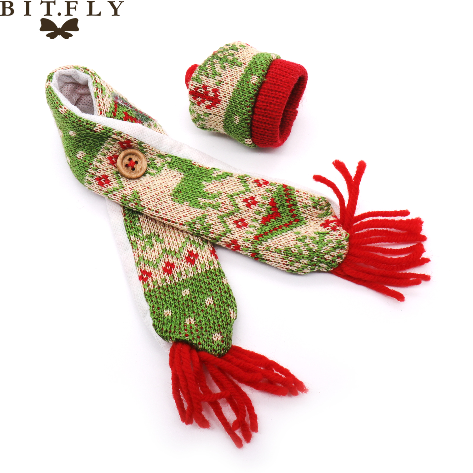 BIT FLY Diy Christmas decorations for home wine bottle cover