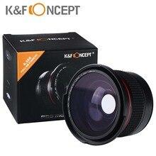 """K & F קונספט HD 58 מ""""מ 0.35x Fisheye מצלמה עדשה רחב זווית מאקרו עדשות עבור Canon 600d 700d 6d rebel T5i ניקון d3300 d5100 sony"""