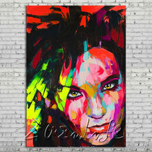 Palette knife portrait Face Oil painting Character figure canvas Hand painted Francoise Nielly wall Art picture 18
