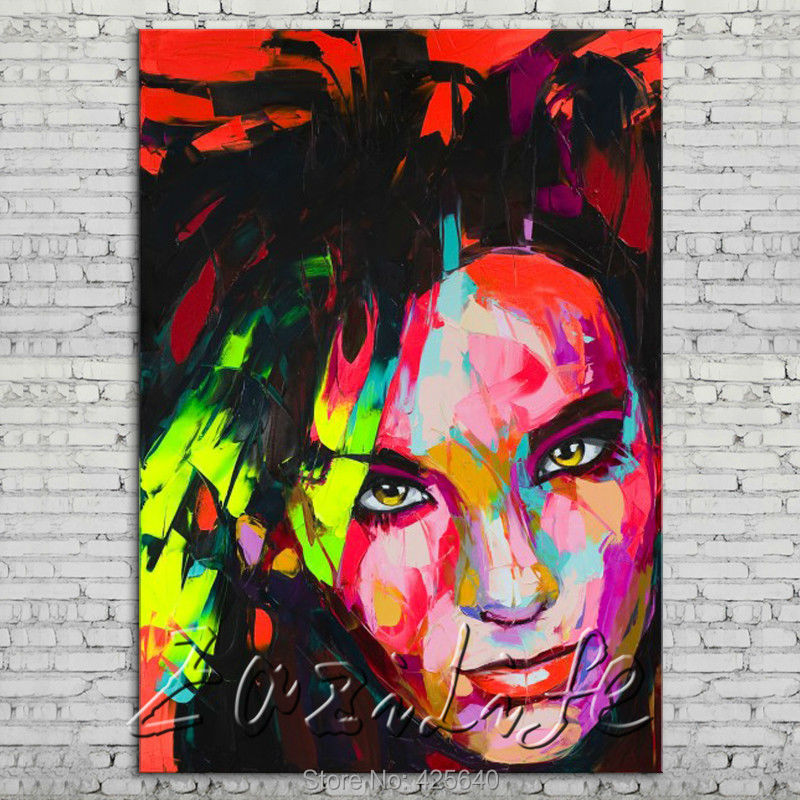 Palette knife portrait Face Oil painting Character figure canvas Hand painted Francoise Nielly wall Art picture 18Palette knife portrait Face Oil painting Character figure canvas Hand painted Francoise Nielly wall Art picture 18
