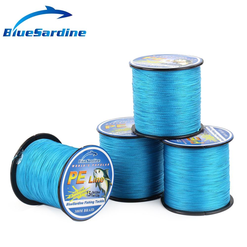 BlueSardine Mavi Balıqçılıq Xətti 300M Multifilament PE - Balıqçılıq - Fotoqrafiya 3