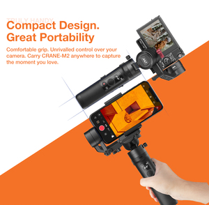 Image 3 - Zhiyun Crane M2 3 Axis Handheld Gimbal Stabilizer for Sony A6500 A6300 Canon M6 Mirrorless Camera & Action Camera & Smartphone