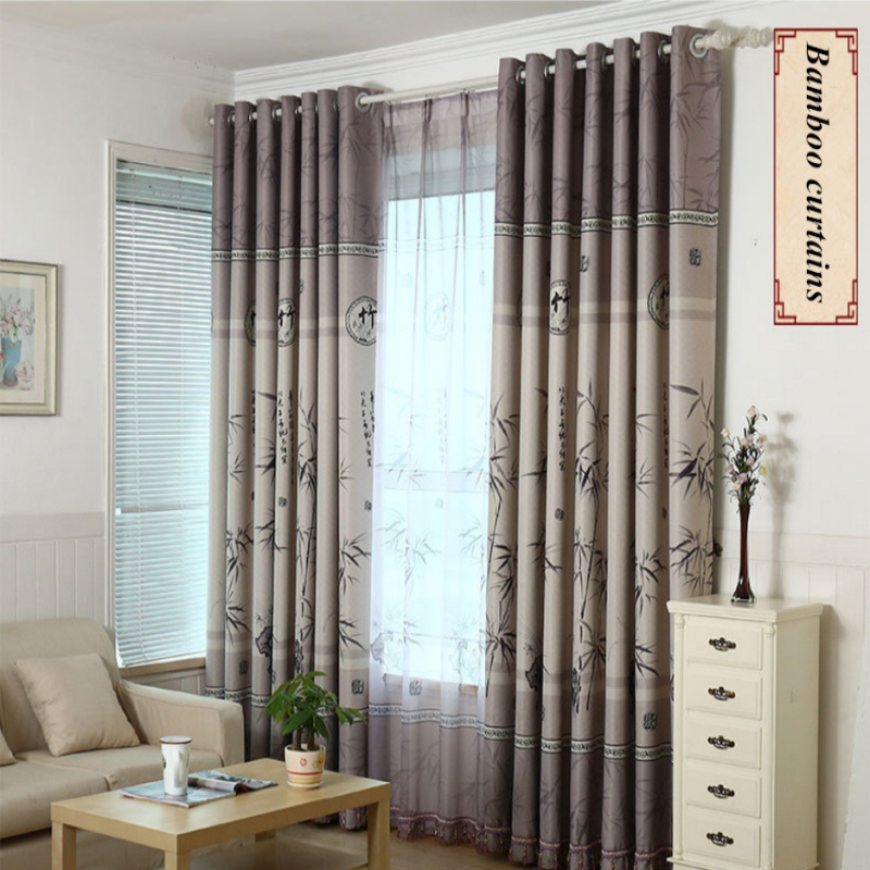 Popular bamboo print curtains buy cheap bamboo print for Bamboo curtains in bedroom