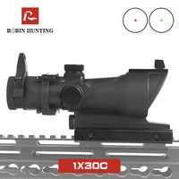 1X30C Red Green Dot Optical Sight Rifle Scope With 20MM Rail Mount For Rifle M4 M16 Airsoft Hunting Scope Riflescope Red dot