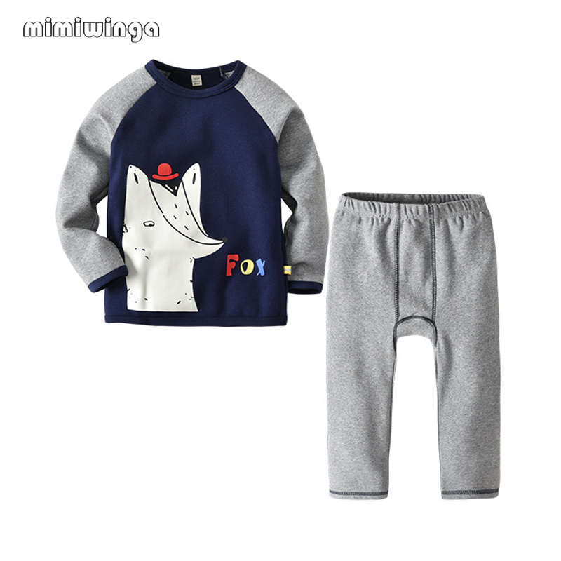 Mimiwinga Cartoon Letter Cotton O-neck T Shirt & Pants Children Garments Set Spring 2 Piece Set Lady Boys Clothes Sports activities Tees Tops Clothes Units, Low-cost Clothes Units, Mimiwinga...