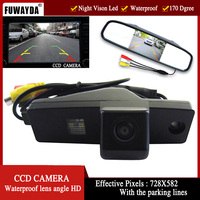 Color CCD Car Rear View Camera For Toyota Highlander Kluger Lexus RX300 With 4 3 Inch