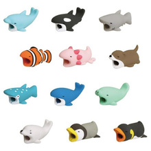 1Pcs Cute Animal Bites Anti-Break USB Data Cable Protector Universal Winder Saver for IPhone Charger Cord Cover