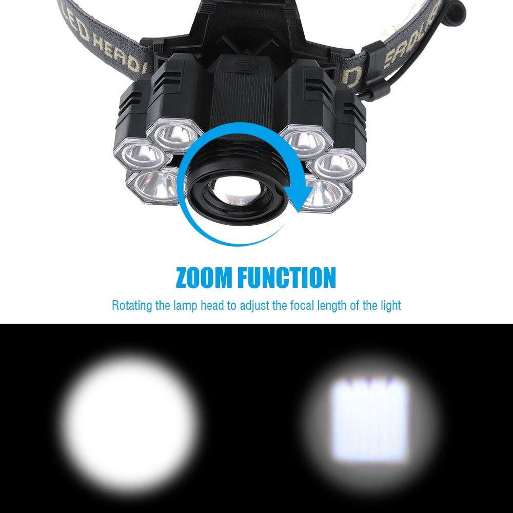 Z20 Litwod 4101 7 светодиодный налобный фонарь 3 * XML T6 + 4 * XPE светодиодный налобный фонарь с зумом Головной фонарь для кемпинга