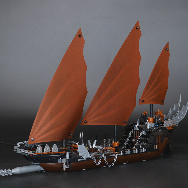 WAZ Compatible Legoe 79008 Lepin 16018 806pcs lord of rings Series Ghost Pirate Ship Set building blocks bricks toy for children lepin 16018 756pcs genuine the lord of rings series the ghost pirate ship set building block brick toys compatible legoed 79008