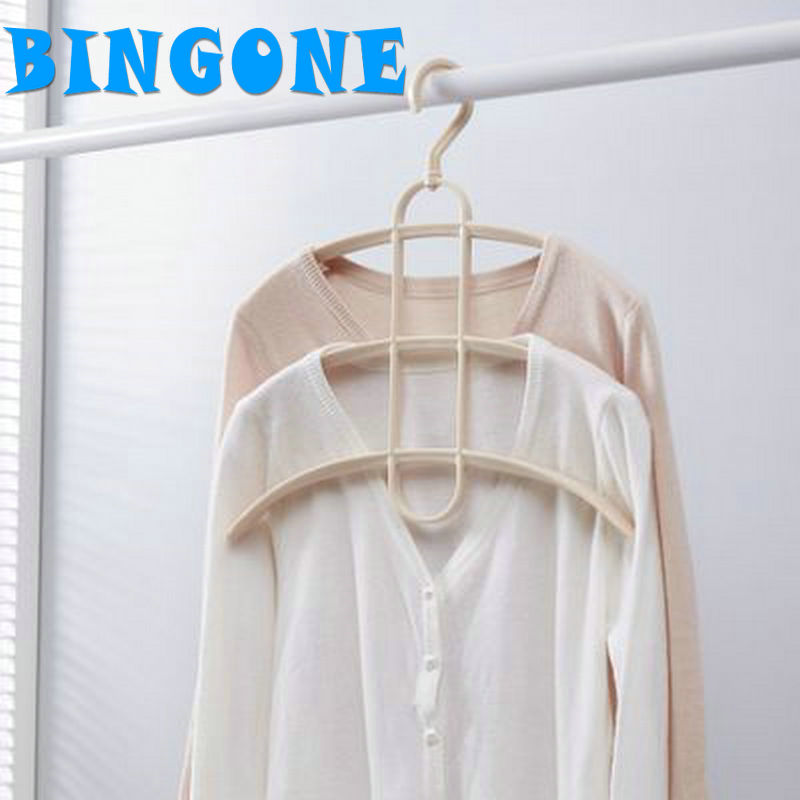 Wardrobe Nonslip Multi-function Three-layers Clothes Hangers PP Material Hangers & Rack Shawl Scarf Closet Holder Organizer-FF