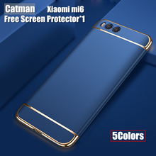 Xiaomi ми-6 случае catman оригинальный задняя крышка жесткий полное покрытие защитной саппу 3 в 1 hybrid броня fundas xiaomi 6 m6 ми-6 случае