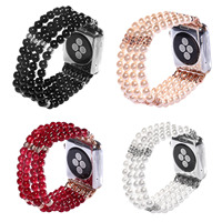 DAHASE Women S Beads Stretch Bracelet For Apple Watch Band For IWatch 1st 2nd Wrist Strap