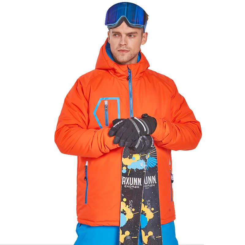 検出器男性スキースノーボードジャケット冬の屋外暖かい防水防風通気性服