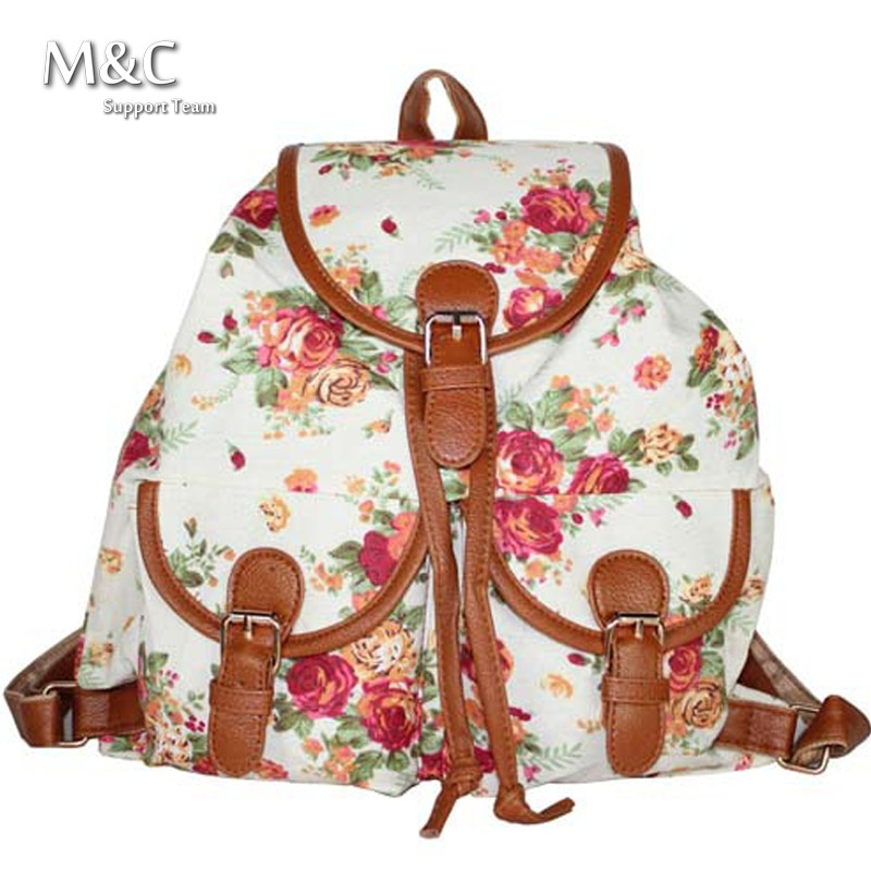 2016 Women Printing Backpack School College Shoulder Book Bags Preppy  Casual School Bags Canvas Backpacks Travel Bags 7014b1324b1e3