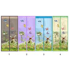 Summer Magnetic Curtains Door Screen Tulle Anti-Mosquito Curtain Mosquito Net for  Bedroom Cool And Refreshing Mosquito Net monkey pattern anti mosquito mesh net magnetic curtain