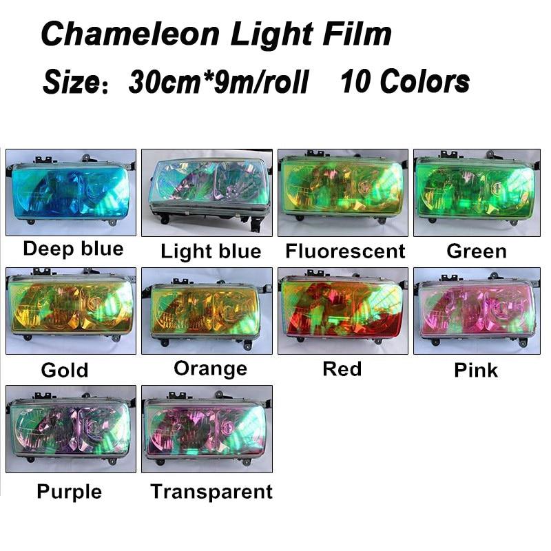Chameleon Automobiles Car Light Headlight Taillight Tint Vinyl Film Sticker Sheet Fog Light Rear Lamp Matt Smoke Lamp Tint