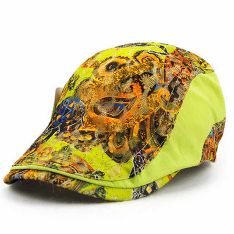 여성 빈티지 꽃 레이스 여름 베레모 flatcap 레이디 캐주얼 duckbill 플랫 캡 여성 바이저 gorras sun hat newsboy bone