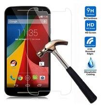 цена 9H Tempered Glass Film for Motorola Moto G2 2 Generation Xt1068 Xt1069 Screen Protector for Moto G2 Pelicula Vidro Temperado онлайн в 2017 году