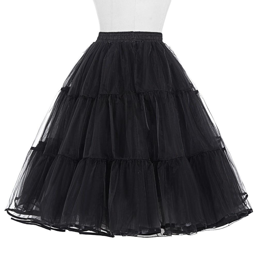 Tulle Rok Lipit Fluffy Rockabilly Ayunan Rok Underskirt Crinoline - Pakaian Wanita - Foto 2