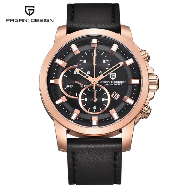 892c177e41f Relógio marca de luxo dos homens relógio esportivo multifuncional Pagani  projeto Homens De Quartzo Relógio de