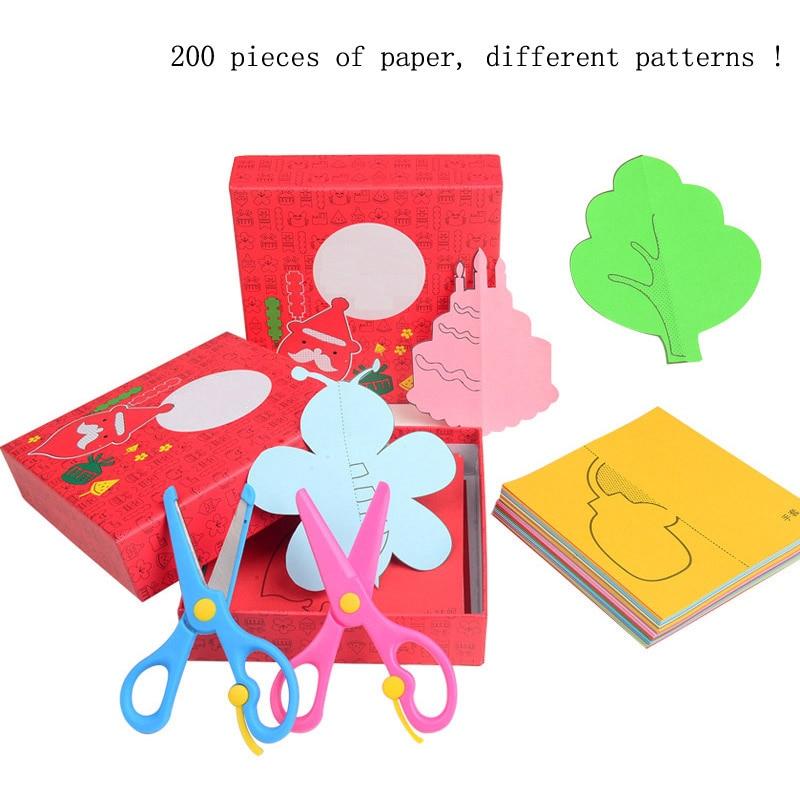 200PCS / Σετ χαρτιού Παιχνίδια Μοντέλα εκπαιδευτικά παιχνίδια παιδί Παιχνίδια Παιδιά DIY Τέχνη Παιδιά Δώρα Papercraft Art Χαρτόνι Ζωικά Χαρτιά Πτυσσόμενα