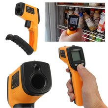 1 PC GM320 Laser LCD Digital IR Infrared Thermometer Temperature Meter Gun Point -50~380 Degree Non-Contact Thermometer P34