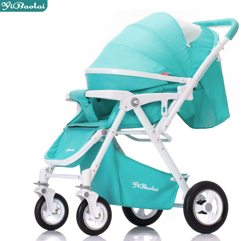 Luxury baby stroller can sit can lying  Baby carriage light folding portable summer baby newborn child trolley fashion folding baby stroller stroller baby portable can sit