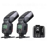 2 x Godox TT600 2.4G Wireless Speedlite Flash + X1T C Transmitter for Canon Camera