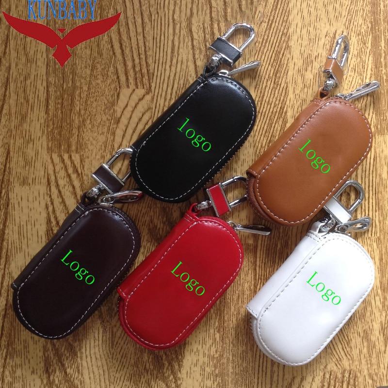 KUNBABY 10pcs lot Model 13 Genunie Leather Car Key Case Cover Key Holder Key Wallet for