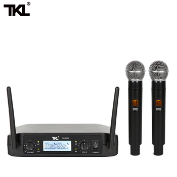 GLXD4 Fixed frequency ireless microphone one tow two home karaoke special UHF professional stage microphone