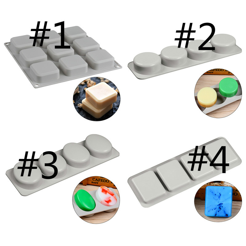 DIY soap Silicone Mould Round Oval Soap Making Molds Rectangle Square Cake Chocolate Blocks Mold in Soap Molds from Home Garden