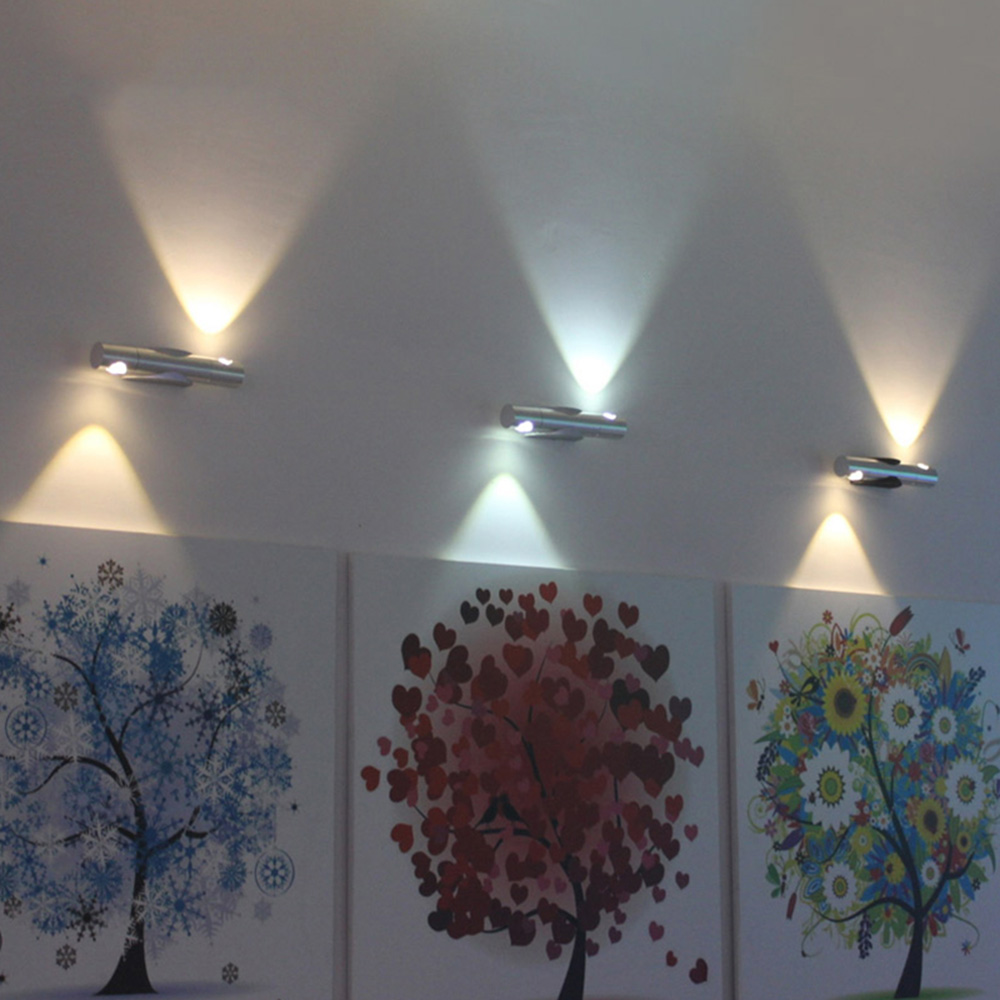 LED Wall Lamps light 2W rotatable SMD chip Aluminum AC110V 220V led for homeKTVbar indoor 8 colors Fast ship TW